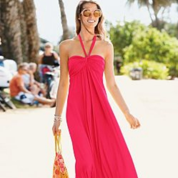 Victoria's Secret Dresses & Skirts - Bra Top Victoria Secret Pink Maxi Dress